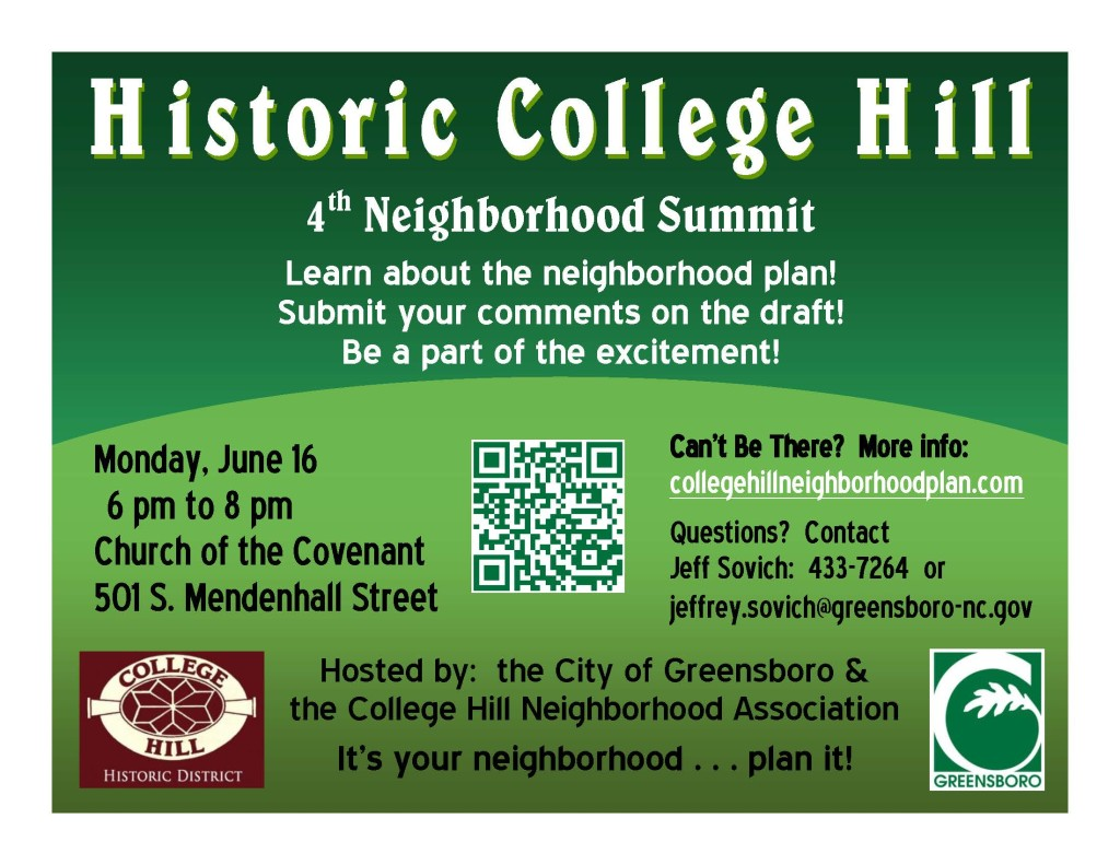 Flyer for neighborhood summit, Monday June 16