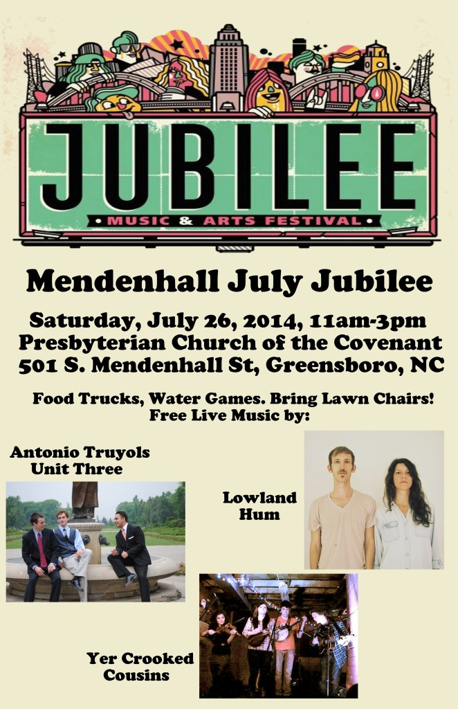 Flyer for PCOC's July Jubilee, 7/26/14, 11 am-3 pm