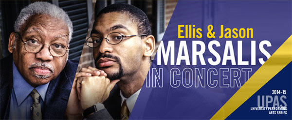 Graphic advertising Marsalis concert