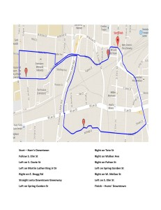 Map of 5K race