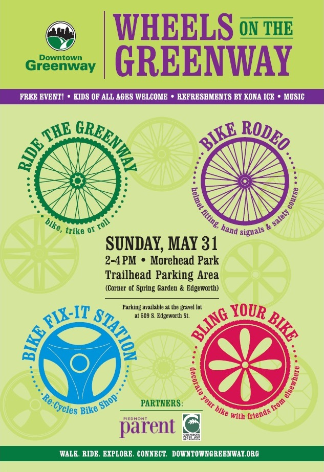 Wheels on the Greenway poster