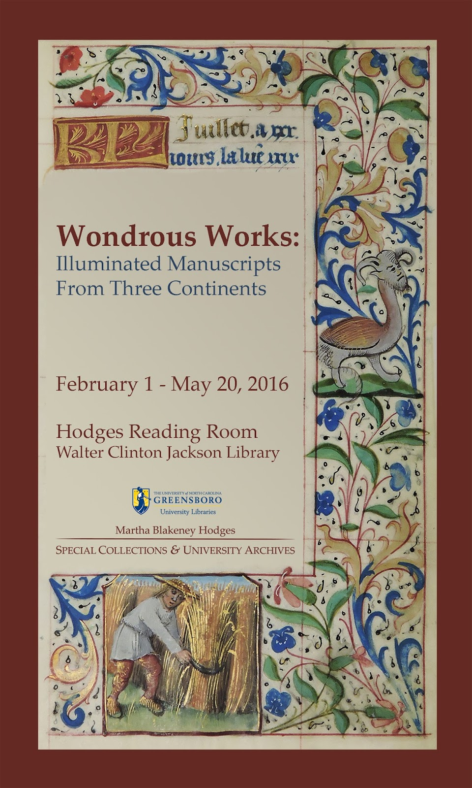 Poster for Wondrous Works exhibit; click for details