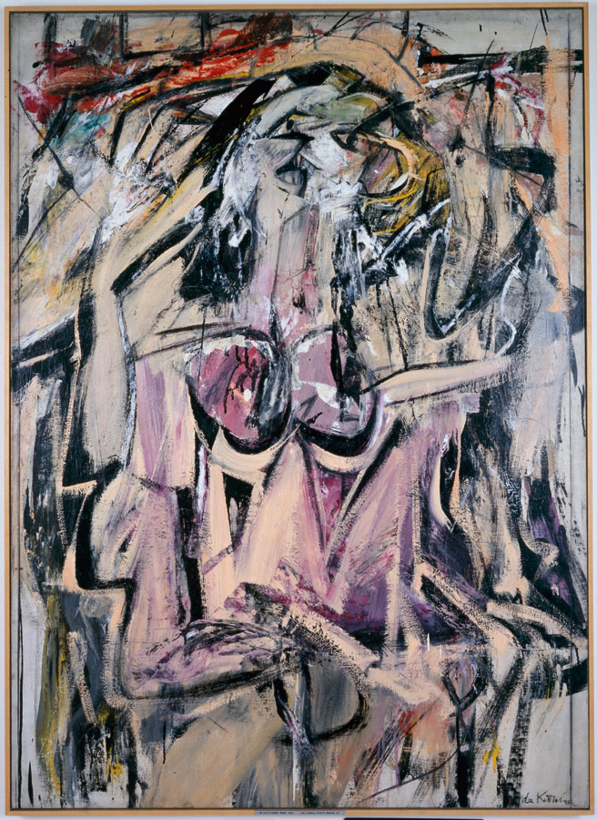 Small version of the famous de Kooning painting