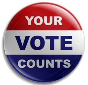 """Your Vote Counts"" graphic"