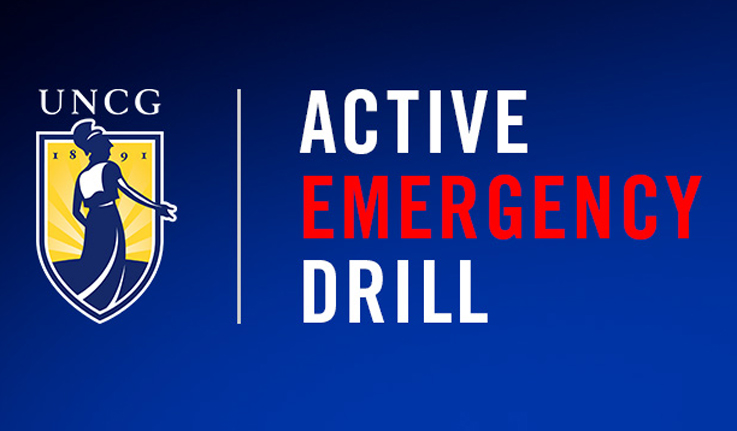 logo: UNCG Active Emergency Drill
