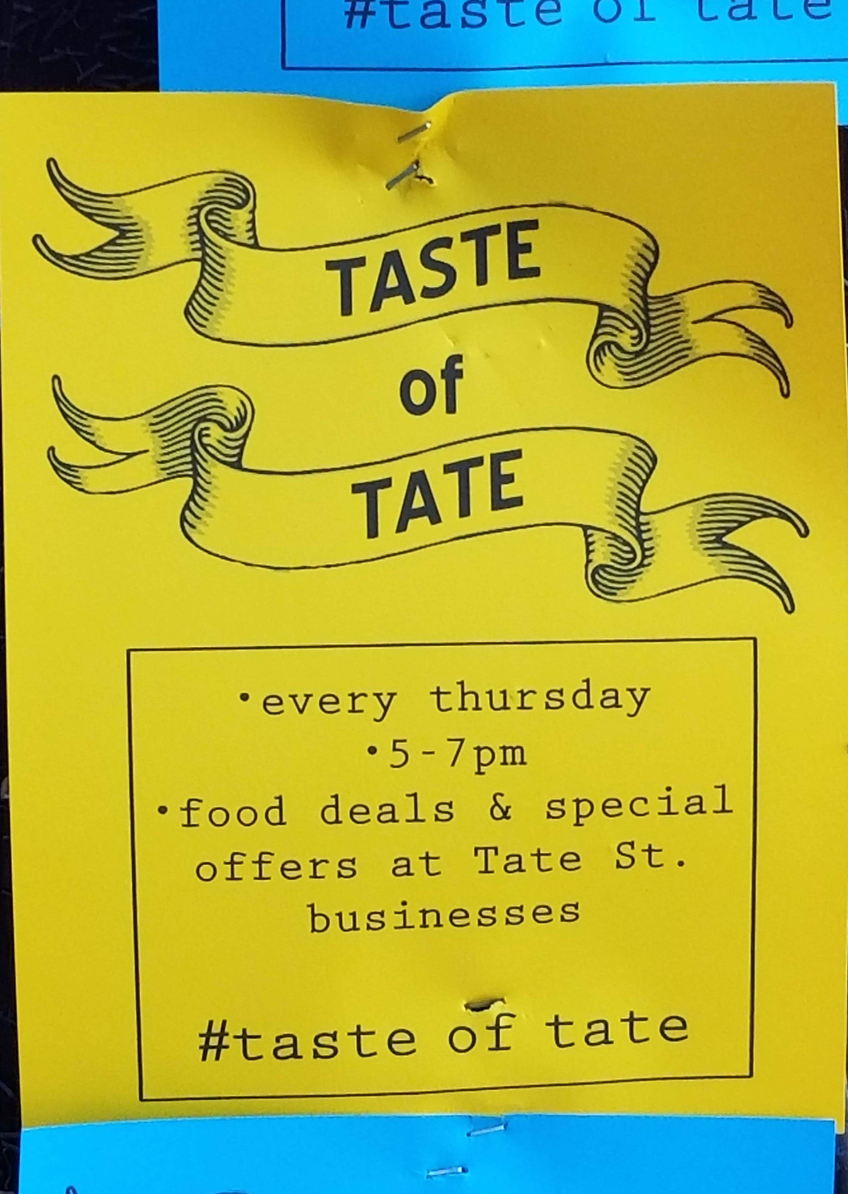 Flyer for Taste of Tate