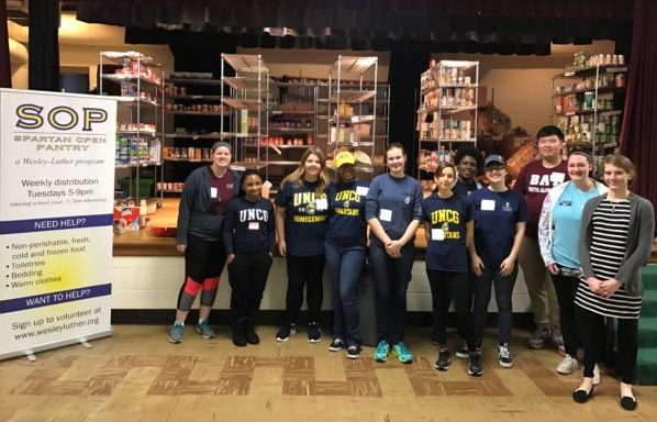 Volunteers at the Spartan Open Pantry
