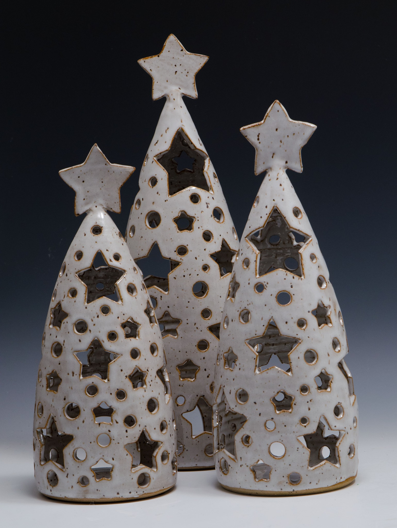 pottery holiday decorations by Michael Kim Burroughs