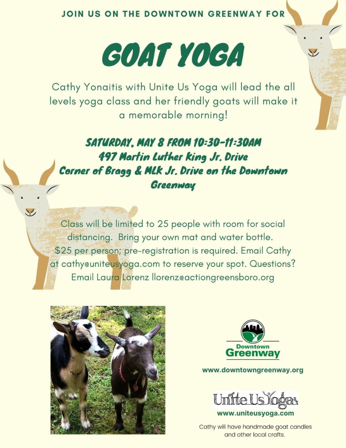 details on goat yoga class